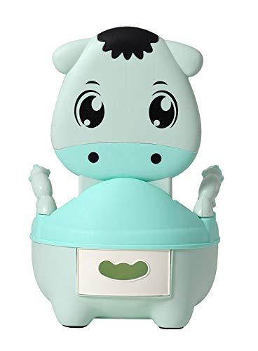 Glenmore Töpfchen für Kinder Baby WC Babytopf Potty Toilette mit Deckel Gepolstertes Maedchen Grün Kalb