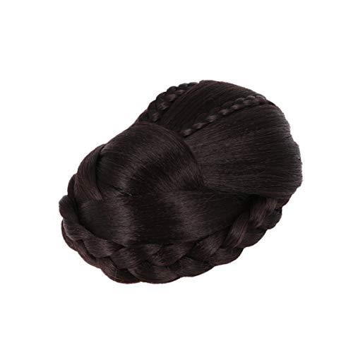 Lurrose Moño de Moño Trenzado Peluca de Moño Extensiones de Moño Postizos para Mujeres Niñas Fiesta de Bodas Cabello Postizo (Estilo 1)