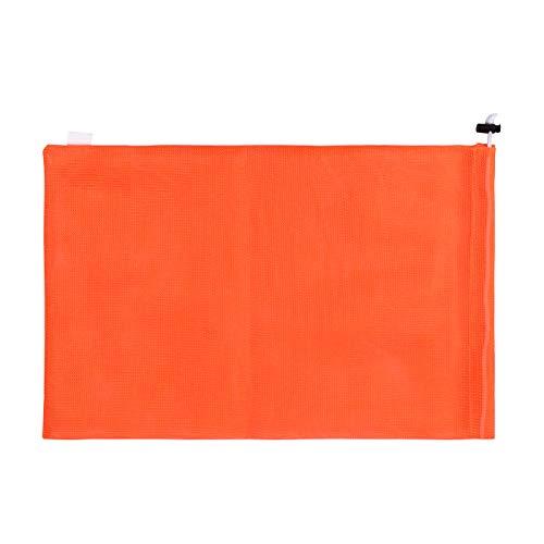 巾着のスポーツ バッグ ランドリー メッシュ バッグ 多機能 100% 洗濯機と乾燥機の安全なメッシュ バッグ エコフレンドリーな再利用可能なバッグ (オレンジ, 17.8cm X 25.4cm)