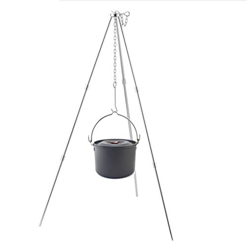 BrilliantDay 42-inch Height Portable Tripod Grilling Set Outdoor Garden Patio Tripod BBQ - Outdoor Picnic Camping BBQ Cooking Hanger with Storage Bag