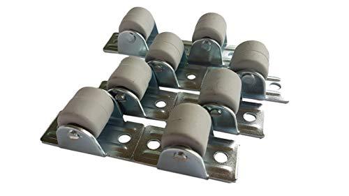 (Pak van) 22 mm Rubber Wielwielen met metalen plaat Meubilair Toestel & Apparatuur Set