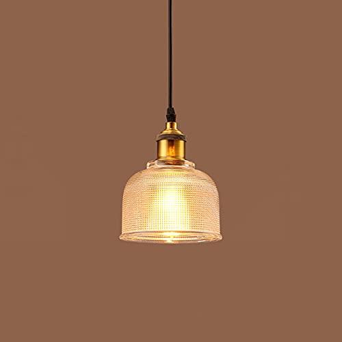 BOTOWI Luminarías Colgantes Lámparas de Cristal Vintage para la Isla de la Cocina Dormitorio del Comedor, la luz colgada de Techo sobre el área de la Barra del Lavabo,Clear