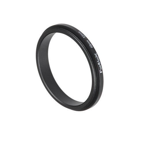 Fotodiox 49mm - 52mm, 49-52mm Macro Close-up Reverse Ring, Anodized Black Metal Ring, for Nikon, Canon, Sony, Olympus, Pentax, Panasonic, Samsung Camera