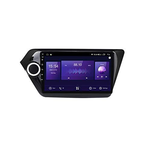 ADMLZQQ Radio de Coche Android 10 para KIA Rio 2011-2016 Radio GPS Navi Soporta Bluetooth/RDS/DSP/Apple Carplay Integrado/2 DIN/9 Pulgadas/Radio Pantalla táctil estéreo Mirrorlink,7862,4+64G