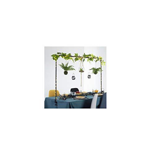 Atmosphera - Barra decorativa da tavolo regolabile fino a 2 metri in metallo nero per esterni o interni