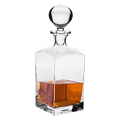 Krosno Whiskykaraffe Decanter | 1000 ML | Caro Kollektion | Whiskyflasche | Perfekt für zu Hause, Restaurants und Partys