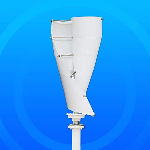 YUYUKUAILAI 300W 12V de Eje Vertical Ligera y turbinas de aerogeneradores portátil, Duradero, hogar, Blanco