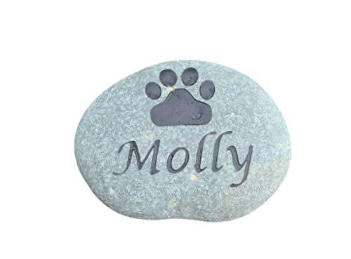 Pet Memorial Stone, Grave Marker, Dog Memorial, Cat Memorial, Garden Stones 5-6 Inch