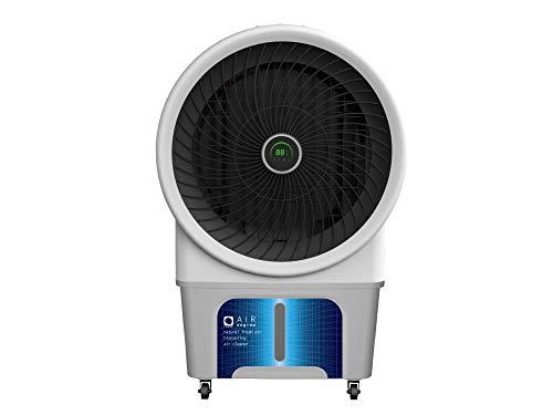 M Confort Air Engine Climatizador Evaporativo Portátil, 250 Watts, 80 m², 3 Velocidades, Máximo Caudal 6000M³/H, Ventilador Axial, 125 x 85 x 55 cm