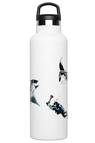 Fish Tank Botella térmica ilustrada Manta