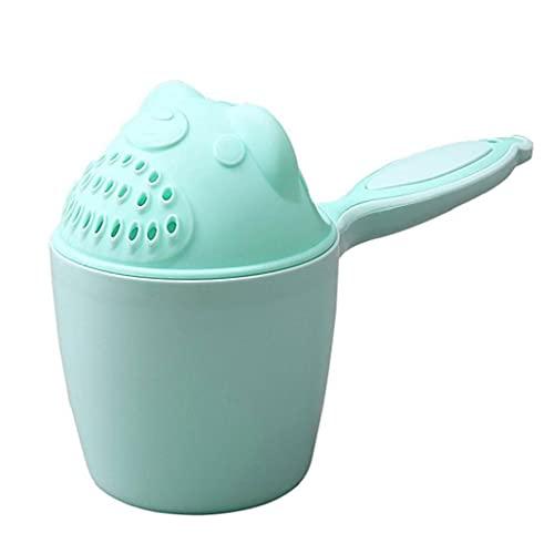 Lavado Baby Shampoo Copa del pelo de cucharas para bebés Caps de baño Ducha Copa de Natación en Aguas Achicador Champú Copa-verde, Baby Shampoo Copa