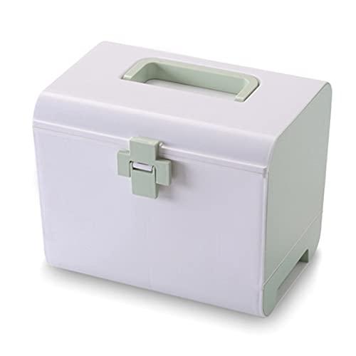 NACHEN Caja de Almacenamiento de medicamentos Organizador de Botellas - Combinación de botiquín de Pecho Compartimentos Separados | Almacenamiento