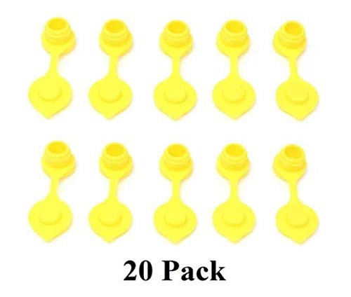 20 YELLOW Fuel Gas Can Jug Vents/Cap Replacement Wedco Rotopax Gott Septer Anchor Blitz