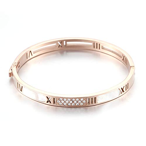 YingYing Ma magneet- en diamantarmband armband met Romeinse cijfers