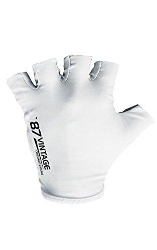 Spokey vINTAGE antidérapant gel gants de cyclisme pour femme et pour homme thermorespirant M Blanc - blanc