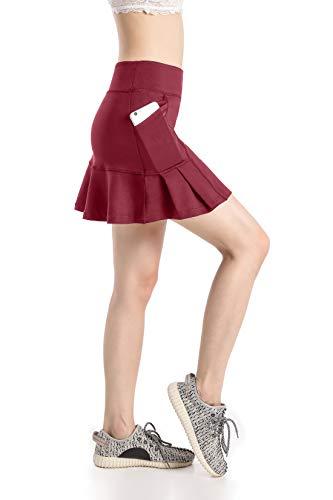 Annjoli Womens Skort Active Athletic Skirt for Running Tennis Golf Workout Sports Skorts (S, D176-31-36.)