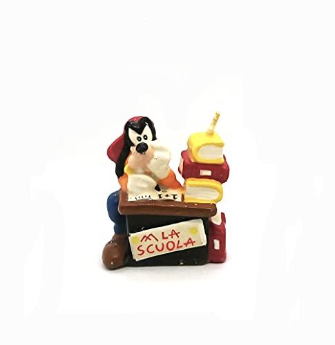 Candela candeline Pluto il cane di Topolino Mickey Mouse // la scuola - candela in cera 3D per Compleanno Bimbo bambino - decorazione decoro per torta e dolci