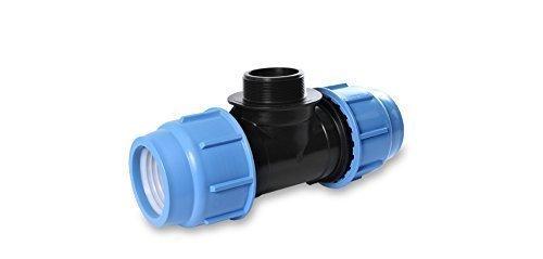 Tube PE Pièce en T PP Divers vis Tuyaux 16, 25 et 32 mm Tige de boulon 16 DVGW certifié - 16 mm x 3/4\