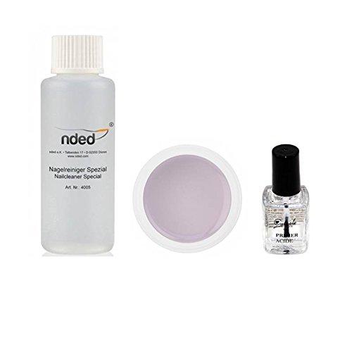 Kit manucure complet faux ongles en gel UV Calyste - Sans Lampe UV