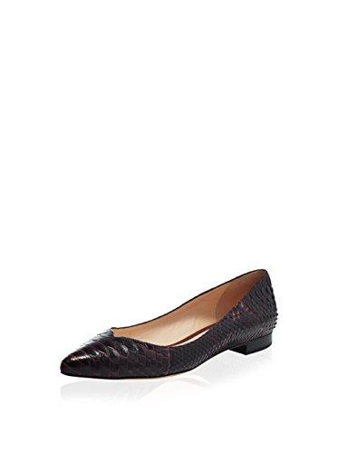 Alexandre Birman Women's Julliet Ballerina Sunset Shoes, Cacao/Cacao, 10 US M