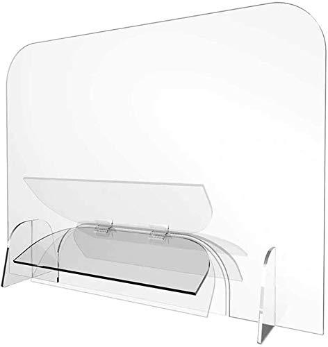 KMILE Protector de estornudos para el suelo, enrollable, transparente, pantalla de guardia de estornudos, distancia social (tamaño: 60 x 160 cm)