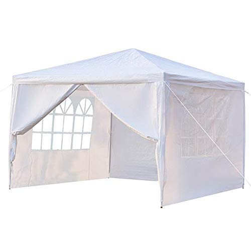 EXTREE 10'x10' Party Tent Canopy Outdoor Tents for Backyard Wedding Tent Heavy Duty Gazebo Cater Events Pavilion Beach BBQ with 4 Removable Side Walls