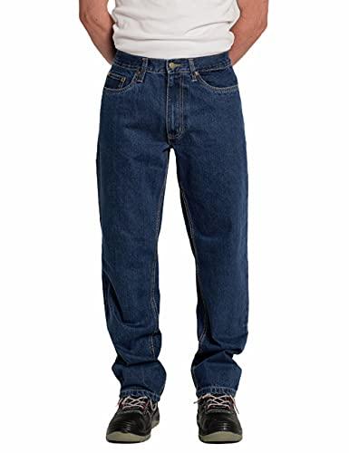 C.B.F. Balducci Group Pantalone da Lavoro con Tasche Jeans Uomo Donna (Blu Jeans, 52)