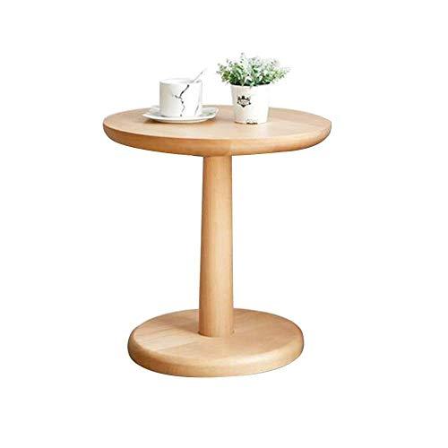 N/Z Wohnausstattung Einfache Moderne Massivholz-Couchtische runde Beistelltische Gelegentliche Teetische für Balkon und Wohnzimmer