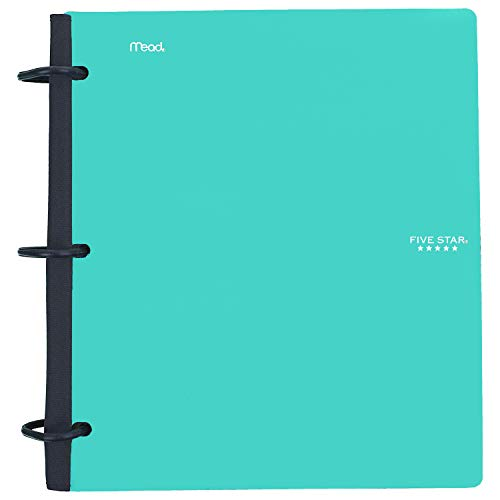 Five Star Flex Hybrid NoteBinder, 1-1/2 Inch Binder with Tabs, Notebook and 3 Ring Binder All-in-One, Teal (38681)