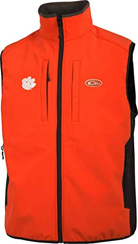 Best Price Drake Clemson Windproof Tech Vest Orange 2XL & Knit Cap Bundle