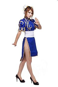 Cosplay Life Chun-Li Cosplay Costume - Street Fighter Anime Costume For Women  Blue L