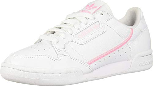 adidas Originals Women's Continental 80 Sneaker, White/True Pink/Clear Pink, 5.5 Medium US