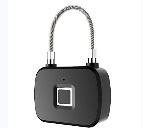 ILS - Veiligheid Keyless USB oplaadbaar Fingerprint deurslot PlasticThree kleur licht kabelslot L13 3M 10 sets van Fingerprint-blokkering inductie