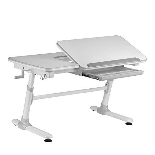 Ergodesk Smart Komfort Desk Kinderschreibtisch höhenverstellbar Schülerschreibtisch Kindermöbel Schreibtisch Kinder (grau)