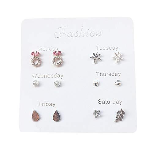 Damen Ohrringe Schmuck Geschenke Mode Einfache SüßE Reise Set Ohrringe Temperament Mode Ohrringe SchüLer Geschenke Ohrstecker B