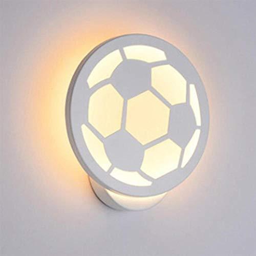 LED 12W wandlamp in de vorm van een kleine voetbal werklamp bedlampje tuin acryl gang (wit)