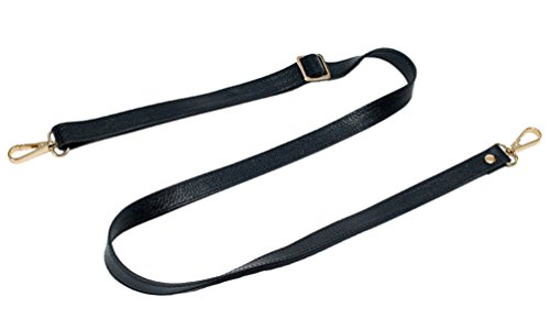 18MM Width Leather Adjustable Length Replacement Cross Body Purse Handbag Bag Shoulder Bag Wallet Strap (White)