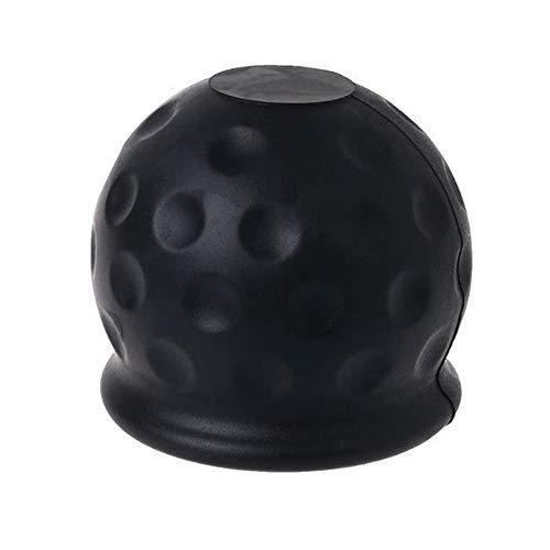 Abdeckung für Anhängerkupplungen, Gummi, schwarz, für die Anhängerkupplung, universell, für die meisten Fahrzeuge, schwarz (62 x 62 x 57 mm)