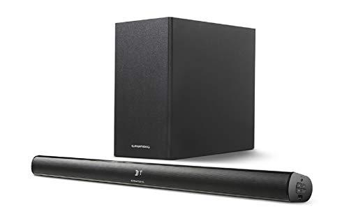 Grundig DSB 990 2.1 Altavoz soundbar 2.1 Canales 80 W Negro - Barra de Sonido (2.1 Canales, 80 W, 40 W, 40 W, Inalámbrico y alámbrico, A2DP)