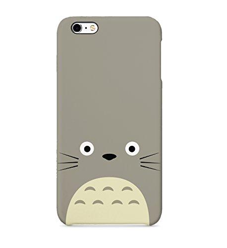 Totoro Face - Carcasa rígida de plástico para iPhone Samsung Galaxy Huawei, policarbonato plástico, Gris, iPhone 8 Plus