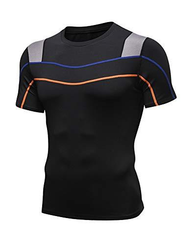 Hombre Camiseta Secado Rápido Fitness Deportivas Running Ma