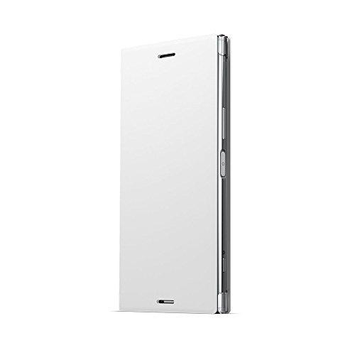 ソニー純正 国内正規品 Xperia XZ Premium SO-04J ケース/カバー 手帳型 スタンド機能付きスタイルカバースタンド Style Cover Stand ホワイト エクスペリア XZ プレミアム スマホケース SCSG10JP/W