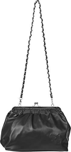 Küstenluder Damen Tasche Dorena Kisslock Logo Handtasche Schwarz