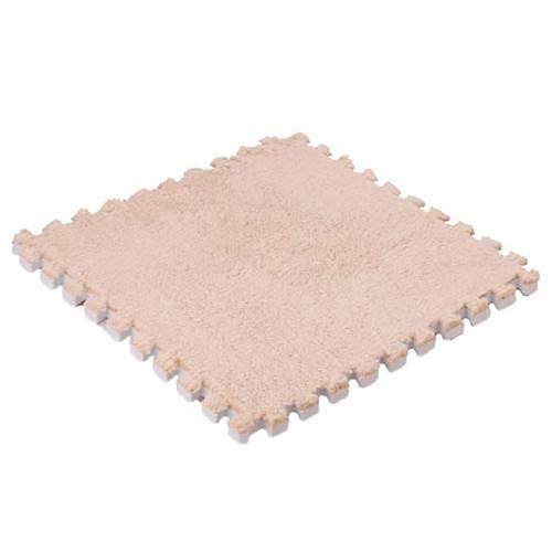 Sanwood Tapis de sol en mousse souple Puzzle de tapis de bureau de jeu d'exercice de maison pour cadeau pour bébé Camel