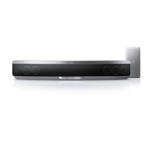 Philips Fidelio HTB9150/12 SoundBar-System mit Ambisound (Full HD, 3D Blu-ray, 600 Watt), schwarz/silber