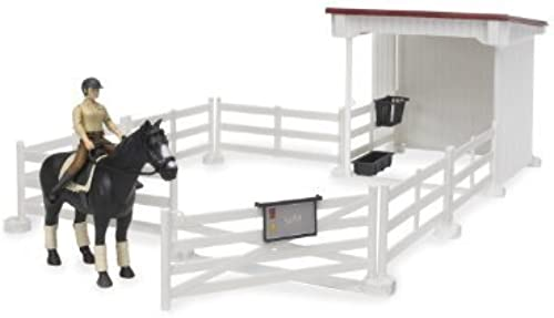 Bruder petit Horse Stable with Horse and femme, blanc by Bruder