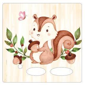 Farbklecks Collection - Schutzfolie passend für Toniebox – Eichhörnchen mit Nuss
