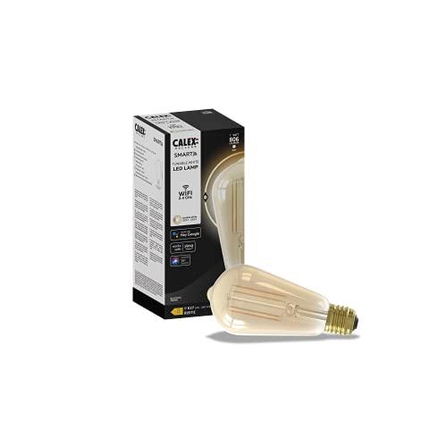 Calex Smart Globe - Lampadina a LED WiFi, in vetro, 7 W, colore: oro, taglia unica