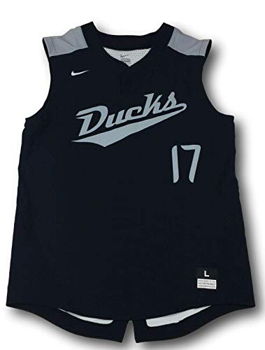 NWT Nike Men's Vapor Elite NCAA Oregon Ducks Black Baseball Sleeveless Jersey Size L