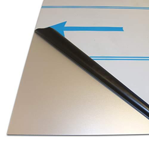B&T Metall Aluminium Blech-Zuschnitt glatt, eloxiert E6 EV1 | 2,0mm stark | Größe 30 x 40 cm (300 x 400 mm)